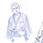 Artstation Samurai Sketches Muhammad Rizqi