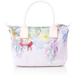 b20dd5b00 Lyst Ted Baker Ferniy Nylon Light Pink Floral Large Tote Bag