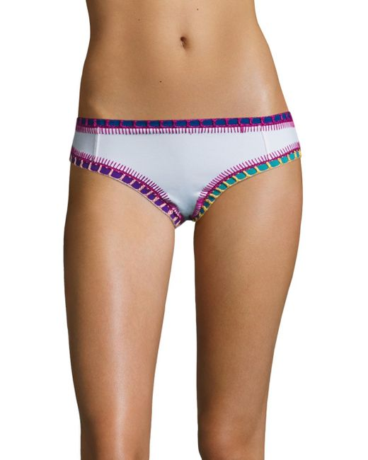 Lyst Kiini Boyshort Bikini Bottom In White
