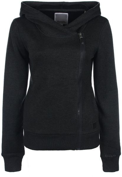 Bench New Flowerpot Zip Thru Knit Jacket In Black Lyst