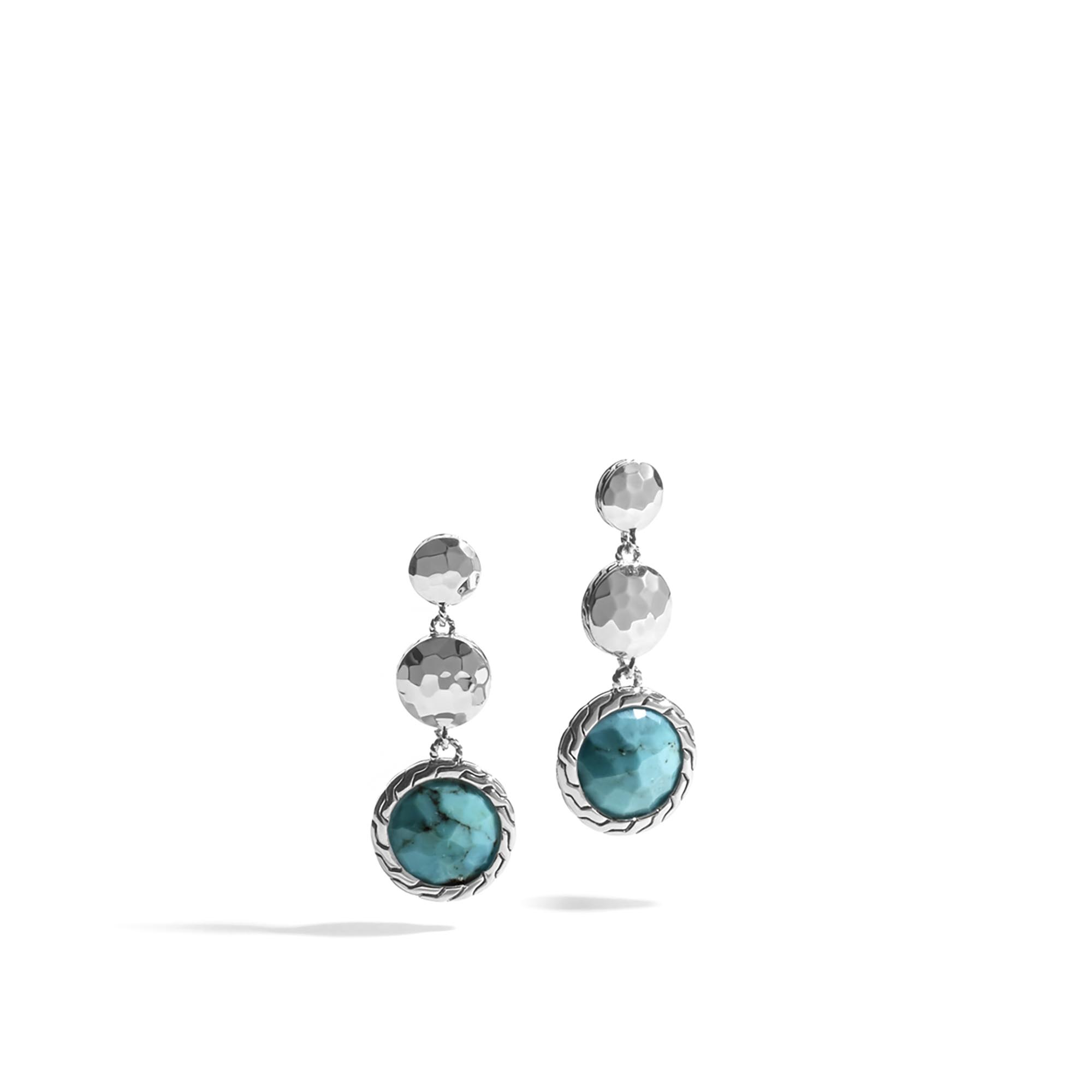 Earrings Sterling Silver Stud Wolf Turquoise