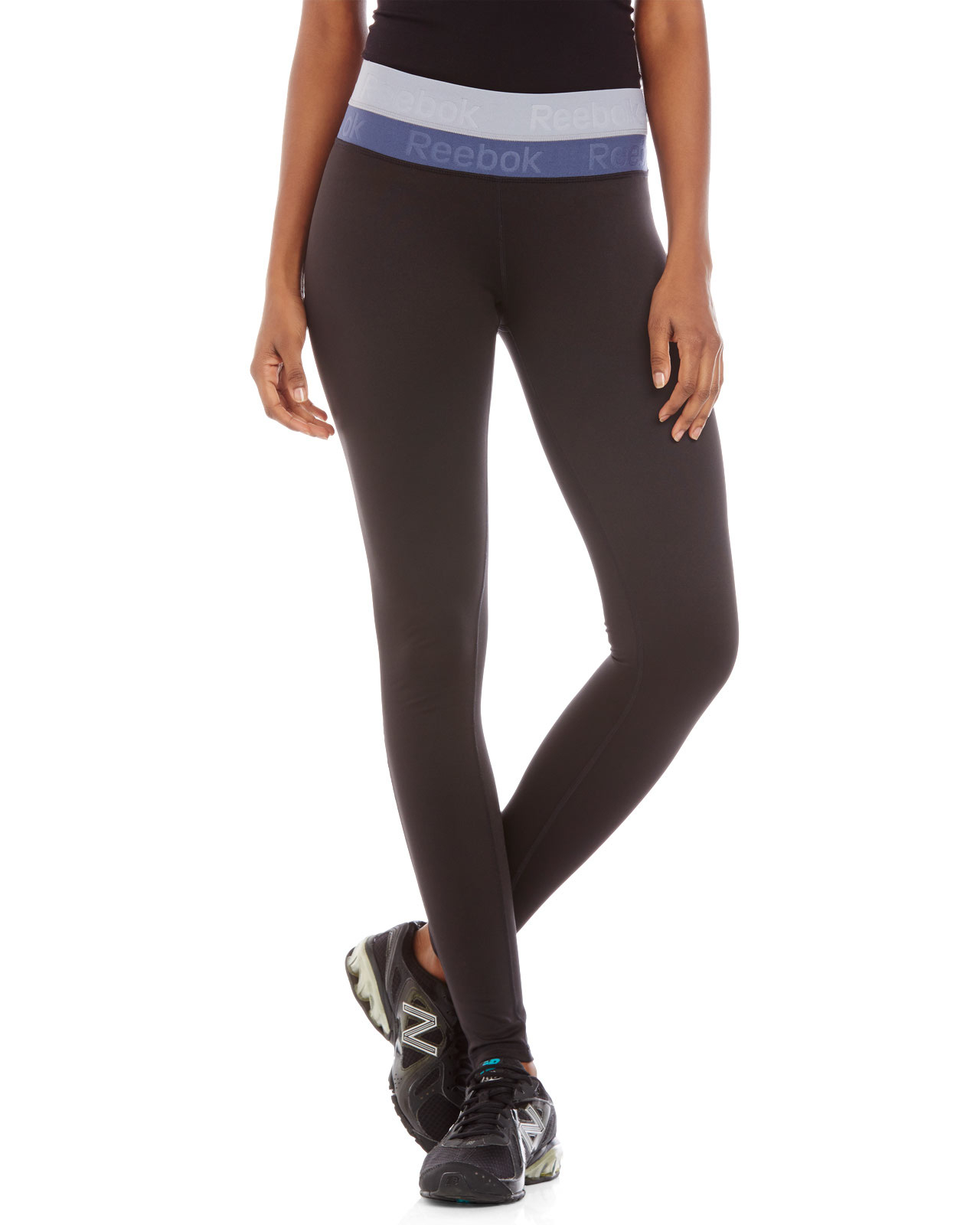 Lyst Reebok Color Block Double Waistband Performance