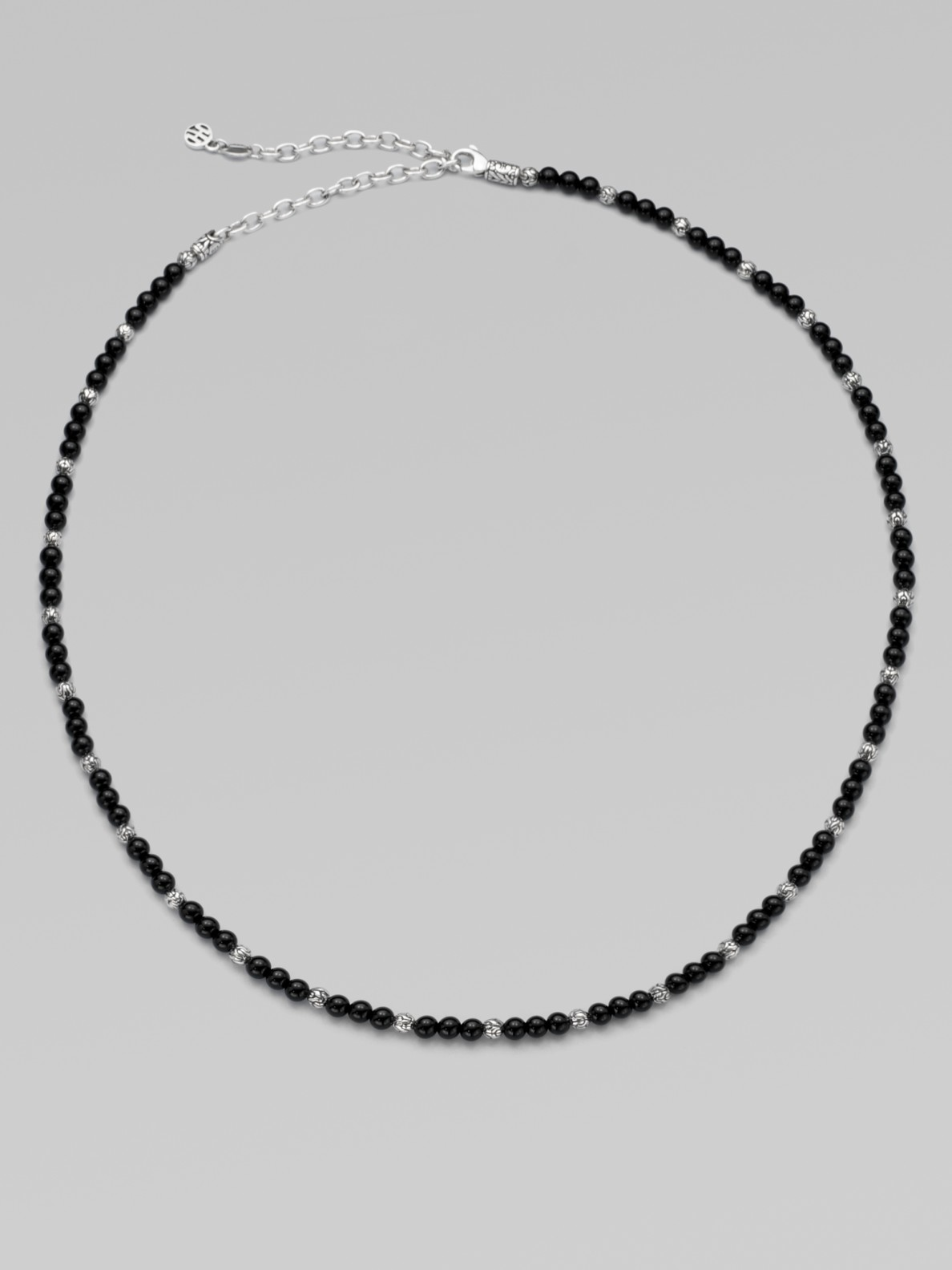 John Hardy Sterling Silver Necklace In Black For Men Lapis