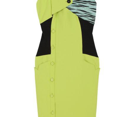 Proenza Schouler Colour Block Button Dress