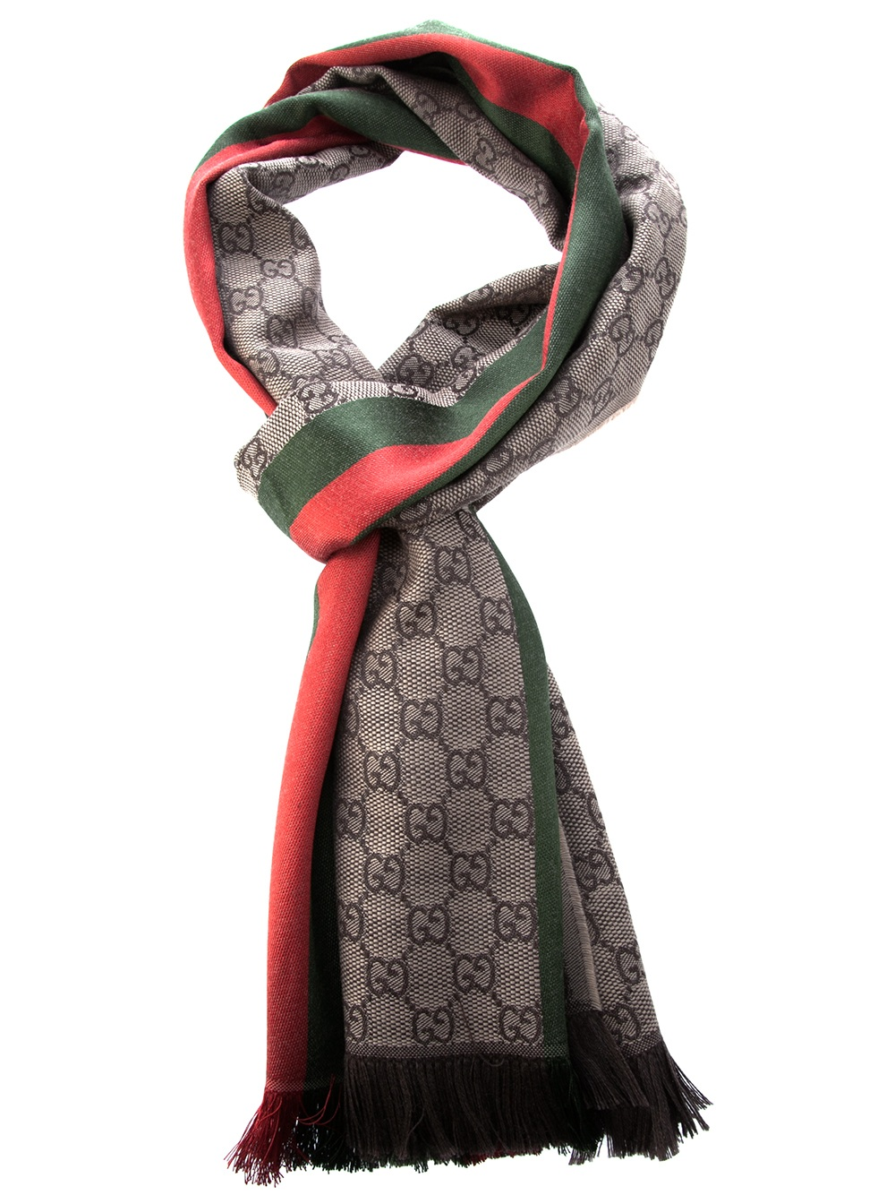 Lyst Gucci Striped Check Scarf In Pink For Men