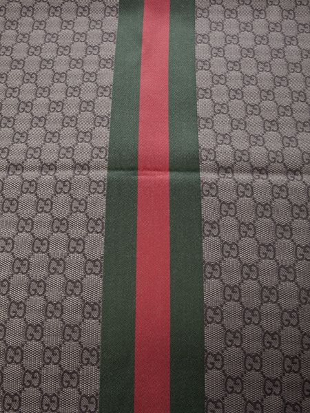 Gucci Striped Check Scarf In Pink For Men Brown Lyst