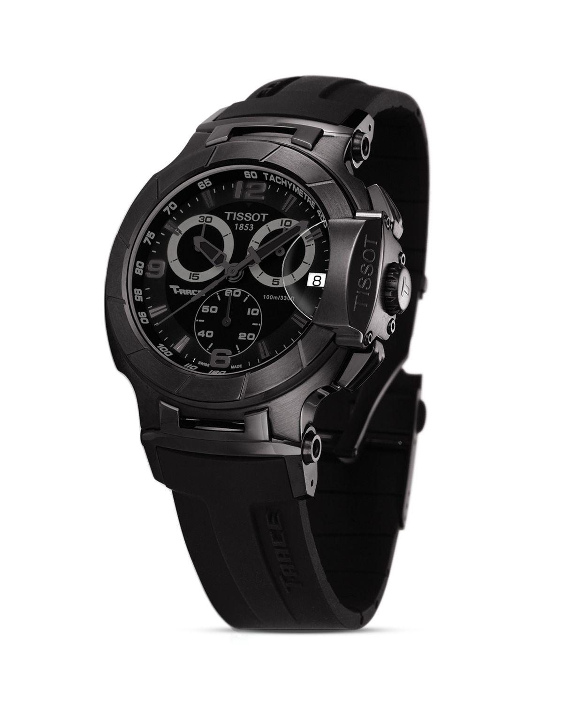 Tissot T Race Men S Black Quartz Chronograph Sport Watch