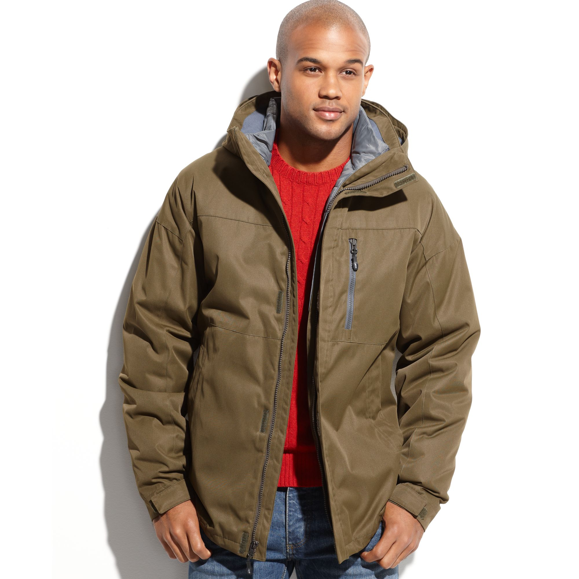 Weatherproof 32 Degrees Coat Twill Tech Midweight 3in1
