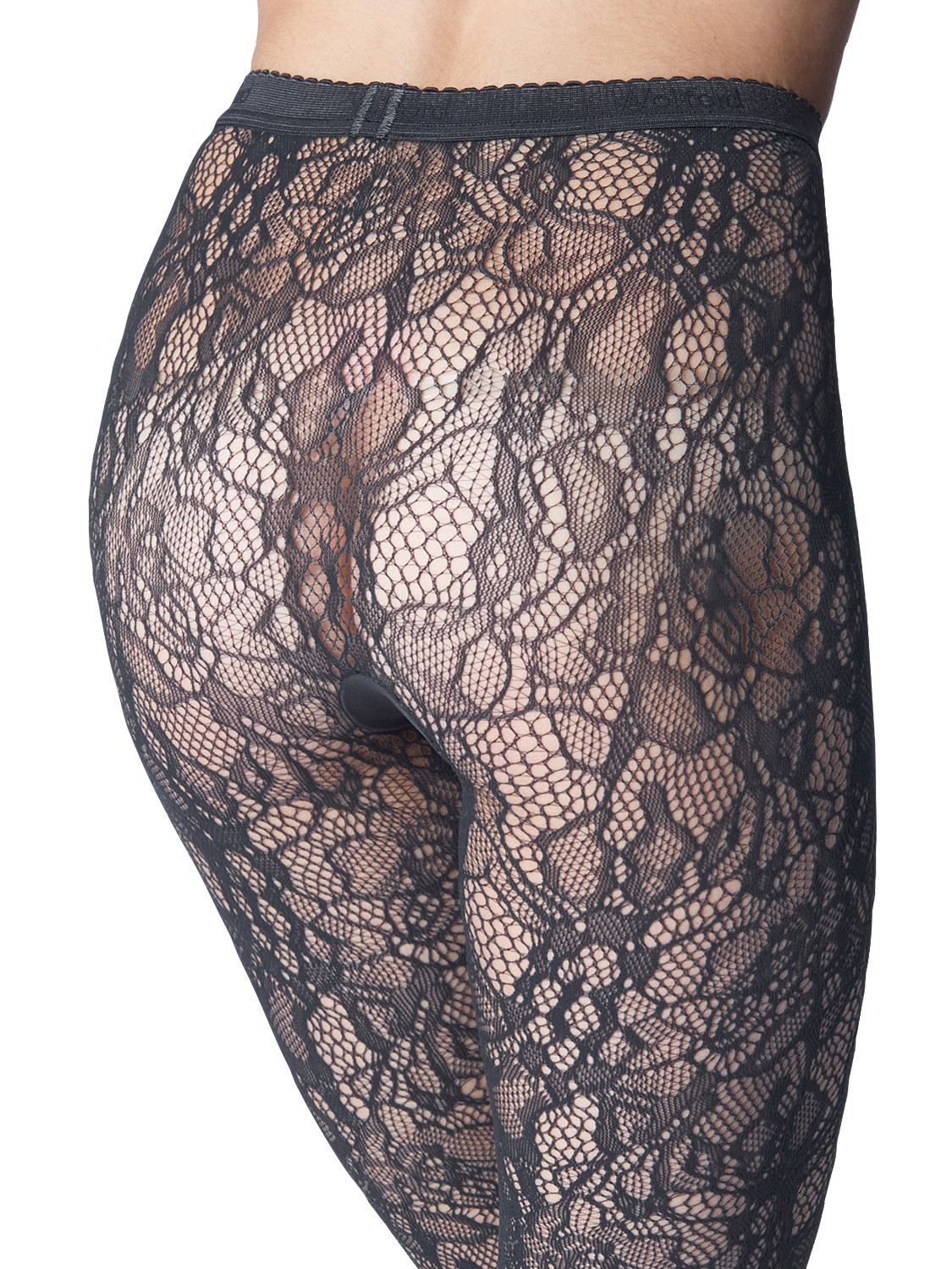 Wolford Clair Fashion Floral Lace Tights In Gray Lyst