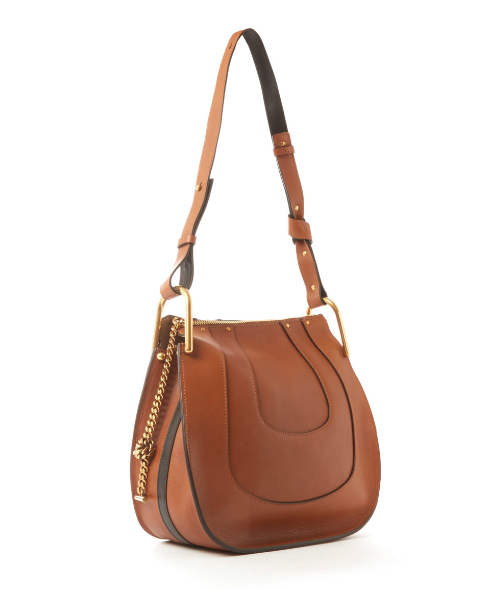 Lyst Chlo 233 Small Tan Hayley Leather Hobo Bag In Brown
