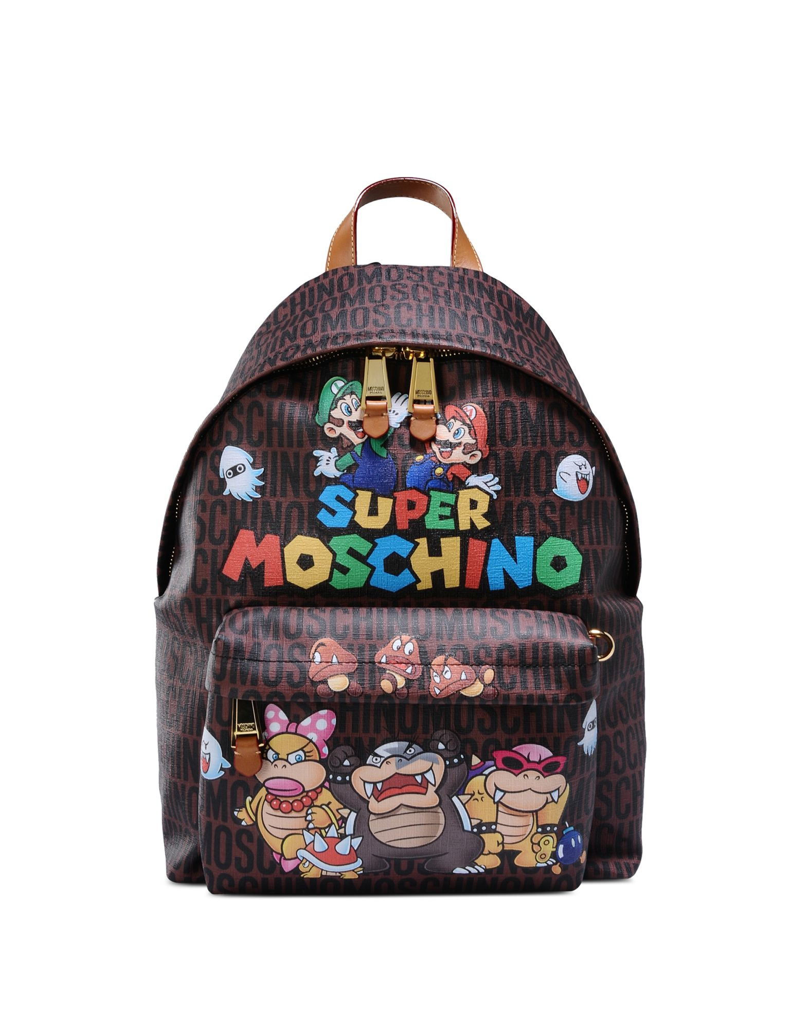 Lyst Moschino Super Mario Multicolor Printed Backpack In