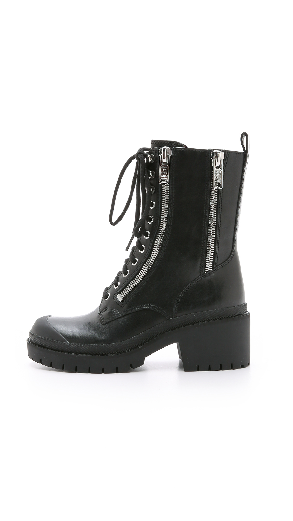 Marc By Marc Jacobs Richardson Zip Army Boots Black In