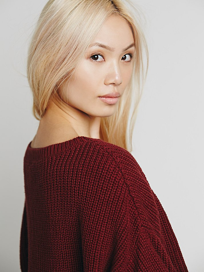 Free People Ryanne Crew Neck Pullover In Red Lyst