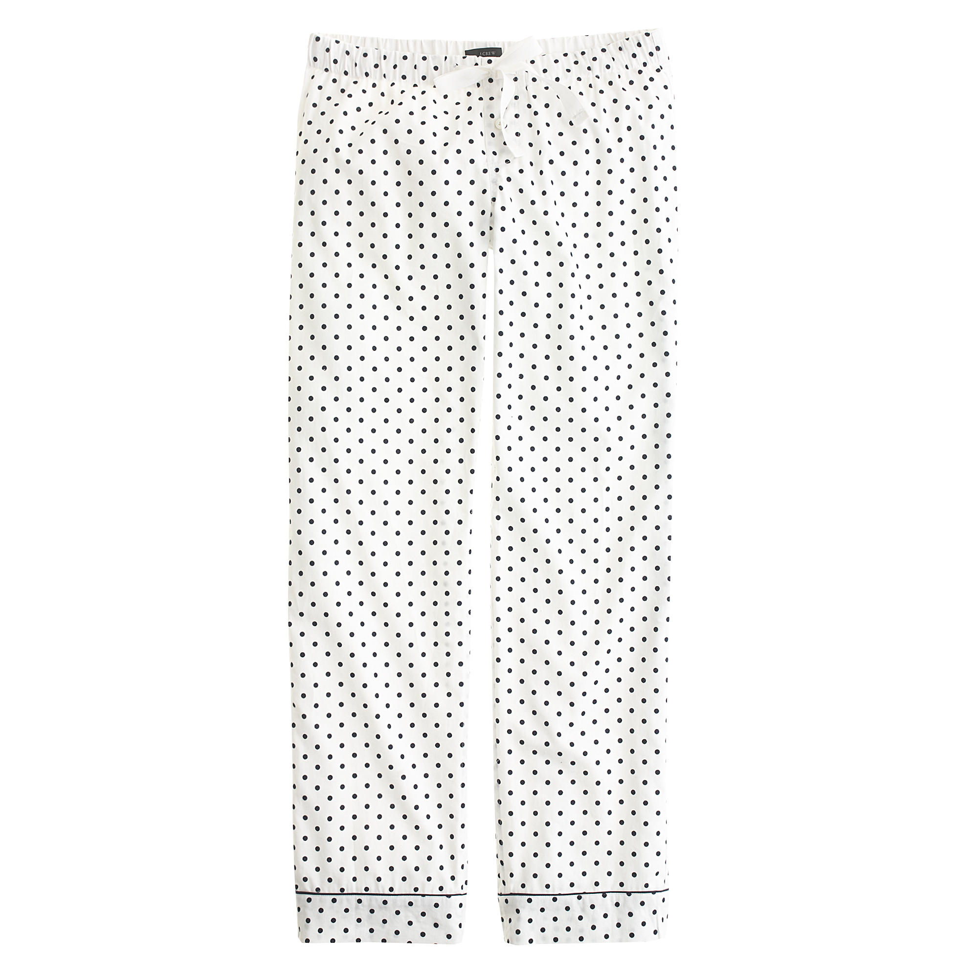 Jew Tall Pajama Pant In Polka Dot Flannel In White
