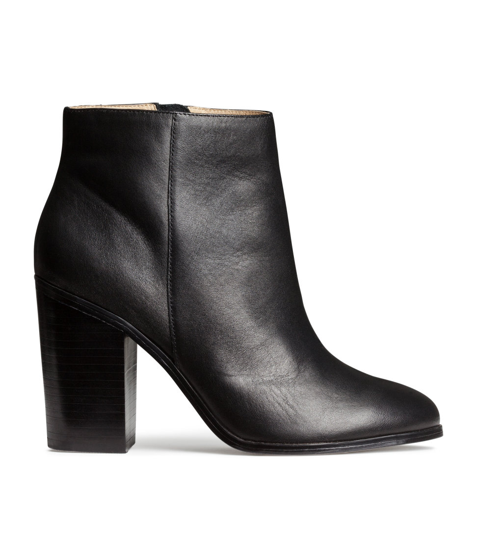 Hampm Leather Boots In Black Lyst