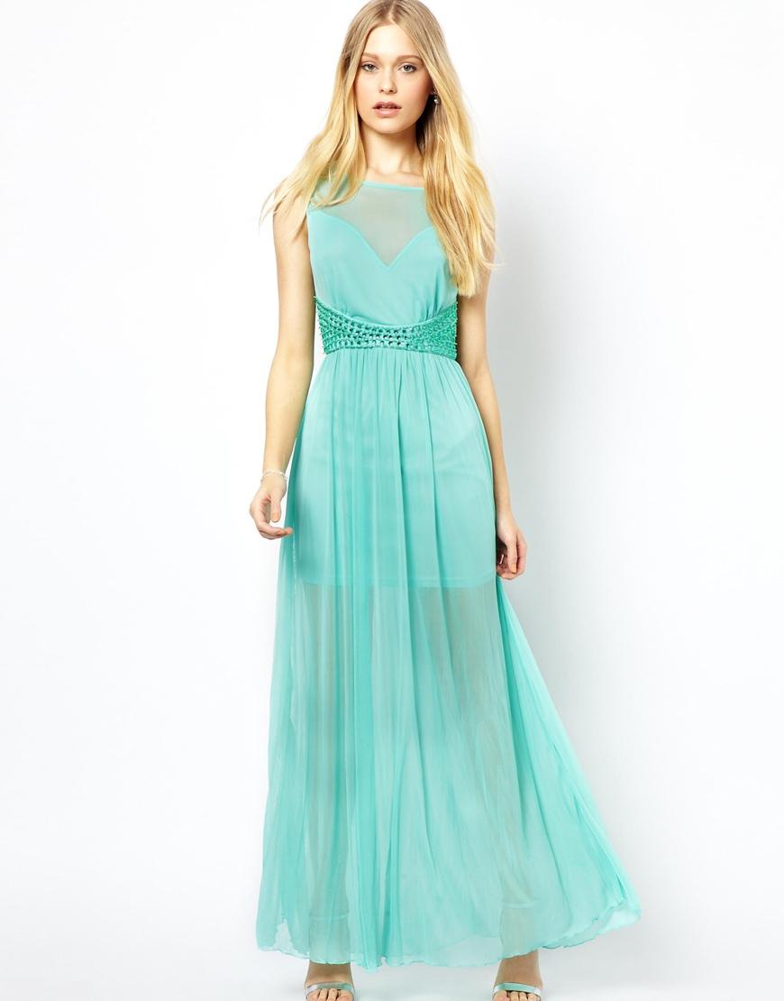 Lyst Ax Paris Maxi Dress In Blue