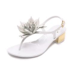 6d11df155 Lyst Kate Spade New York Davina Flower Jelly Sandals In White