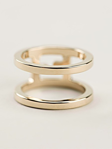 Lyst   Fendi Double Band Ring in Metallic Gallery