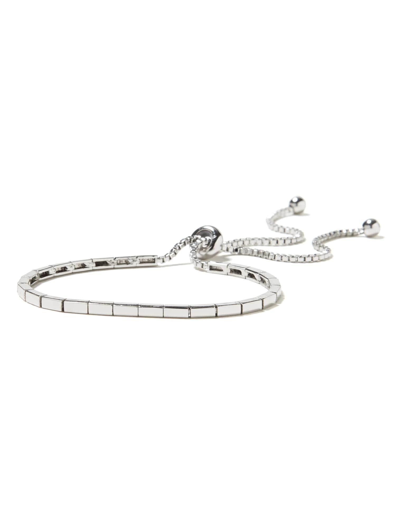 Banana Republic Rectangle Slider Bracelet In Silver