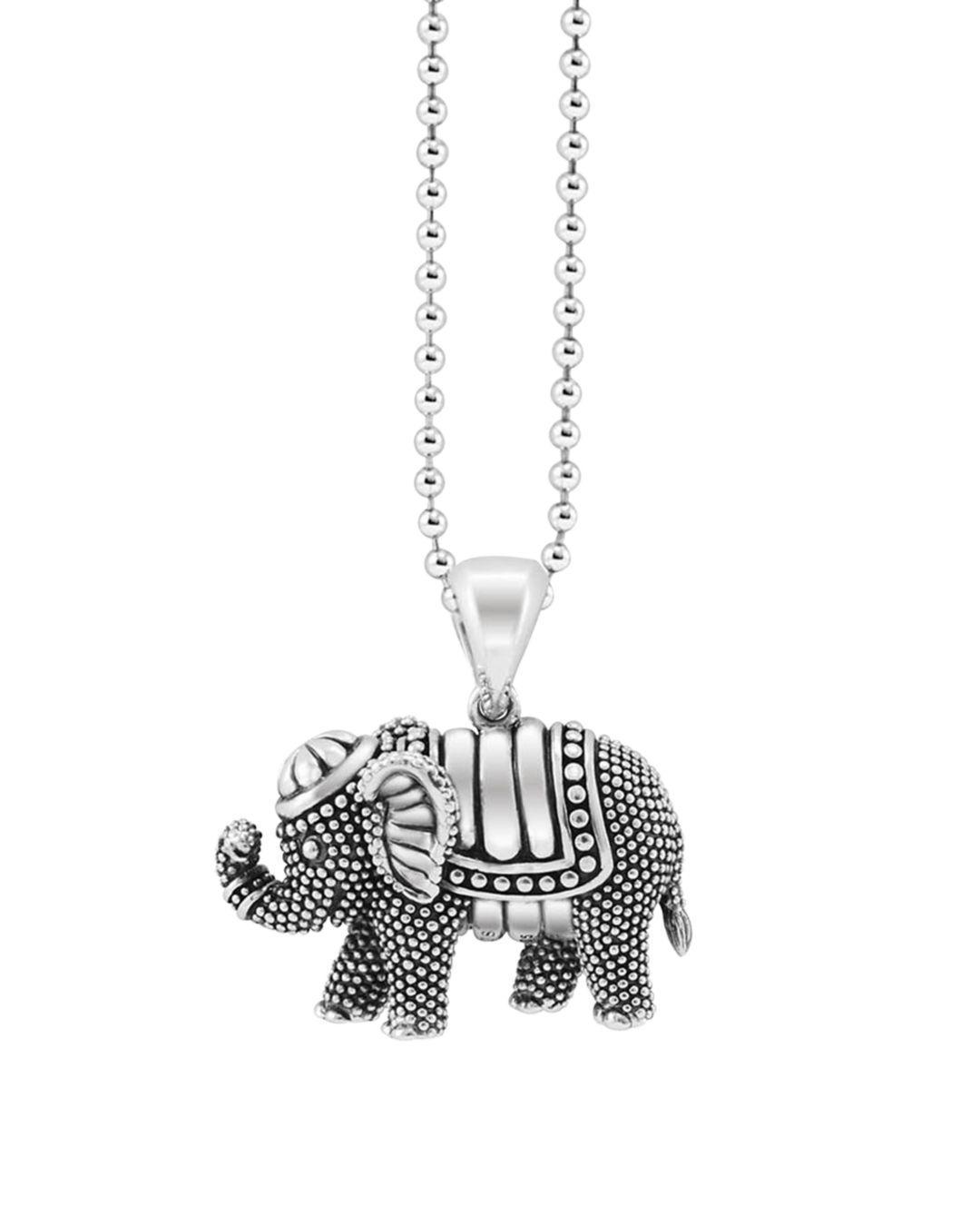 Lagos Rare Wonders Elephant Pendant Necklace In Silver