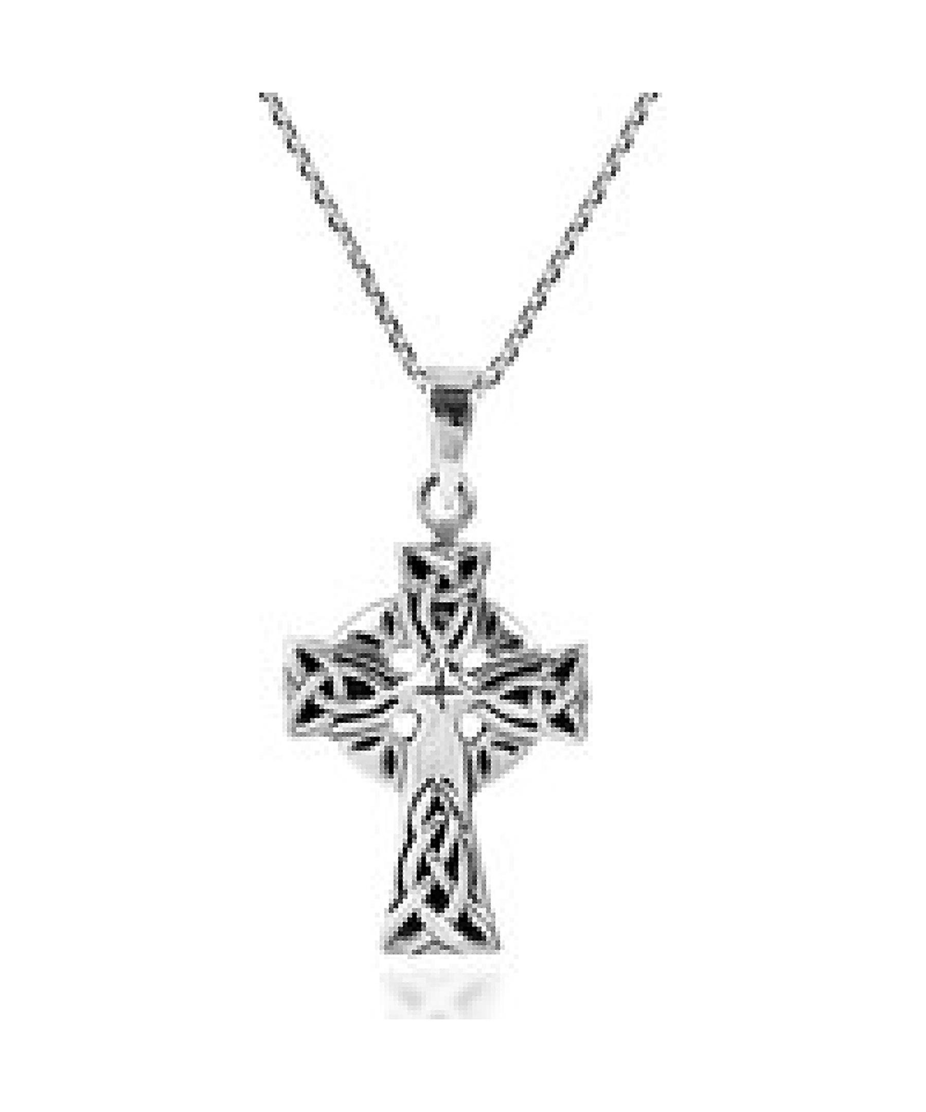 Aeravida Religion Celtic Triquetra Knot Cross 925