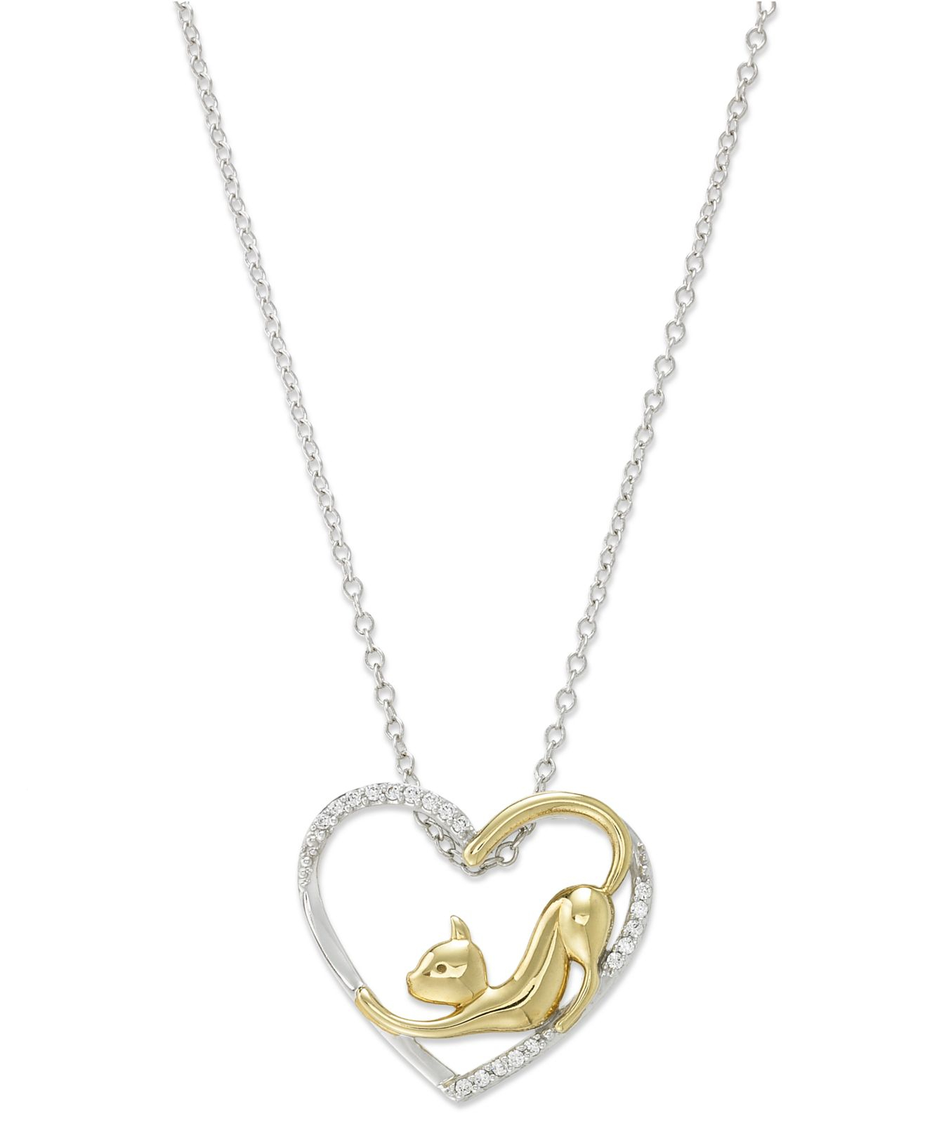 Macy S Aspca Tender Voices Diamond Cat Heart Pendant