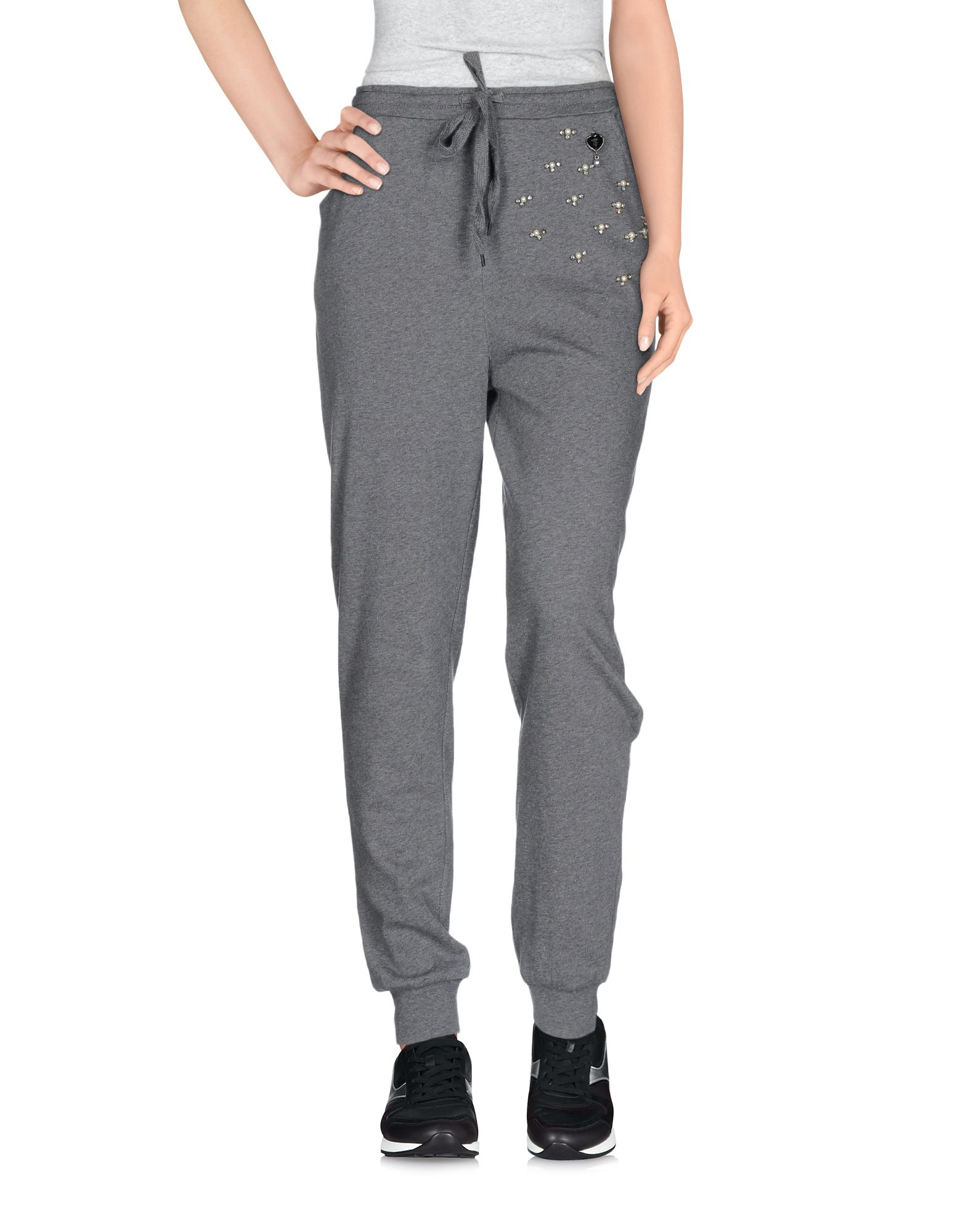 Lyst Twin Set Casual Trouser In Gray