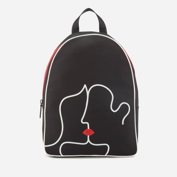 Lulu Guinness Womens Kissing Lips Backpack In Black Lyst