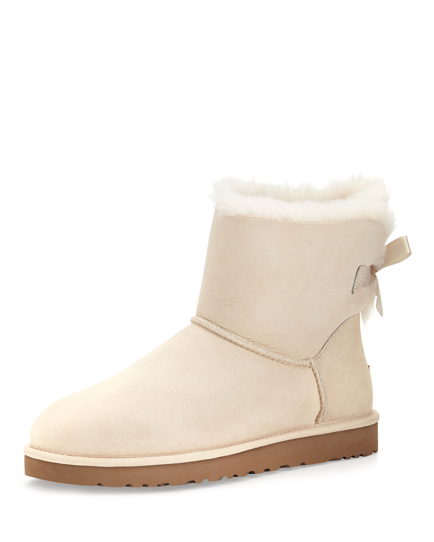 Lyst Ugg Mini Bailey Bowback Boot Salt Off White In White