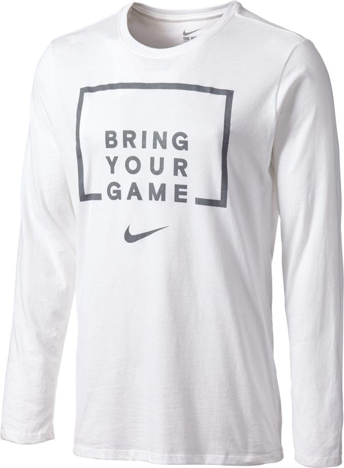 c8ce5a0891b Lyst Nike Ring Your Game Long Sleeve Basketball Shirt In White For Men