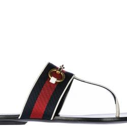 3a653b35d060 Lyst Gucci Leather Flip Flops Sandals In Black