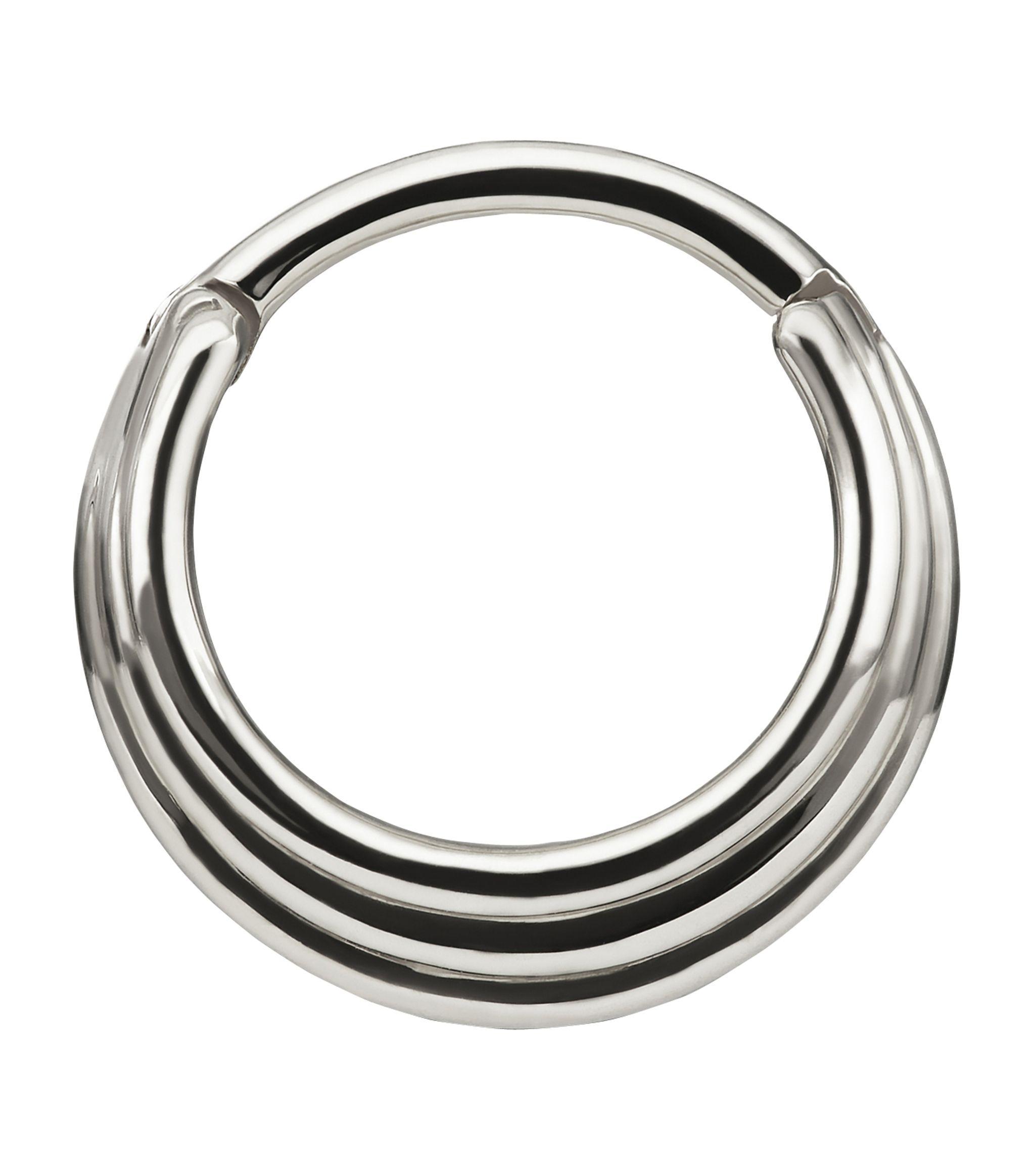 Maria Tash White Gold Hiranya Clicker Hoop Earring In