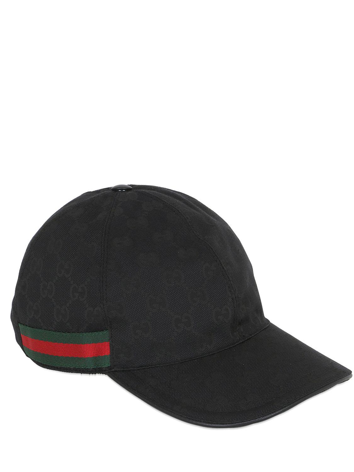 35850224d24 Lyst Gucci Leather Baseball Hat In Black For Men Free Coloring Pages ...