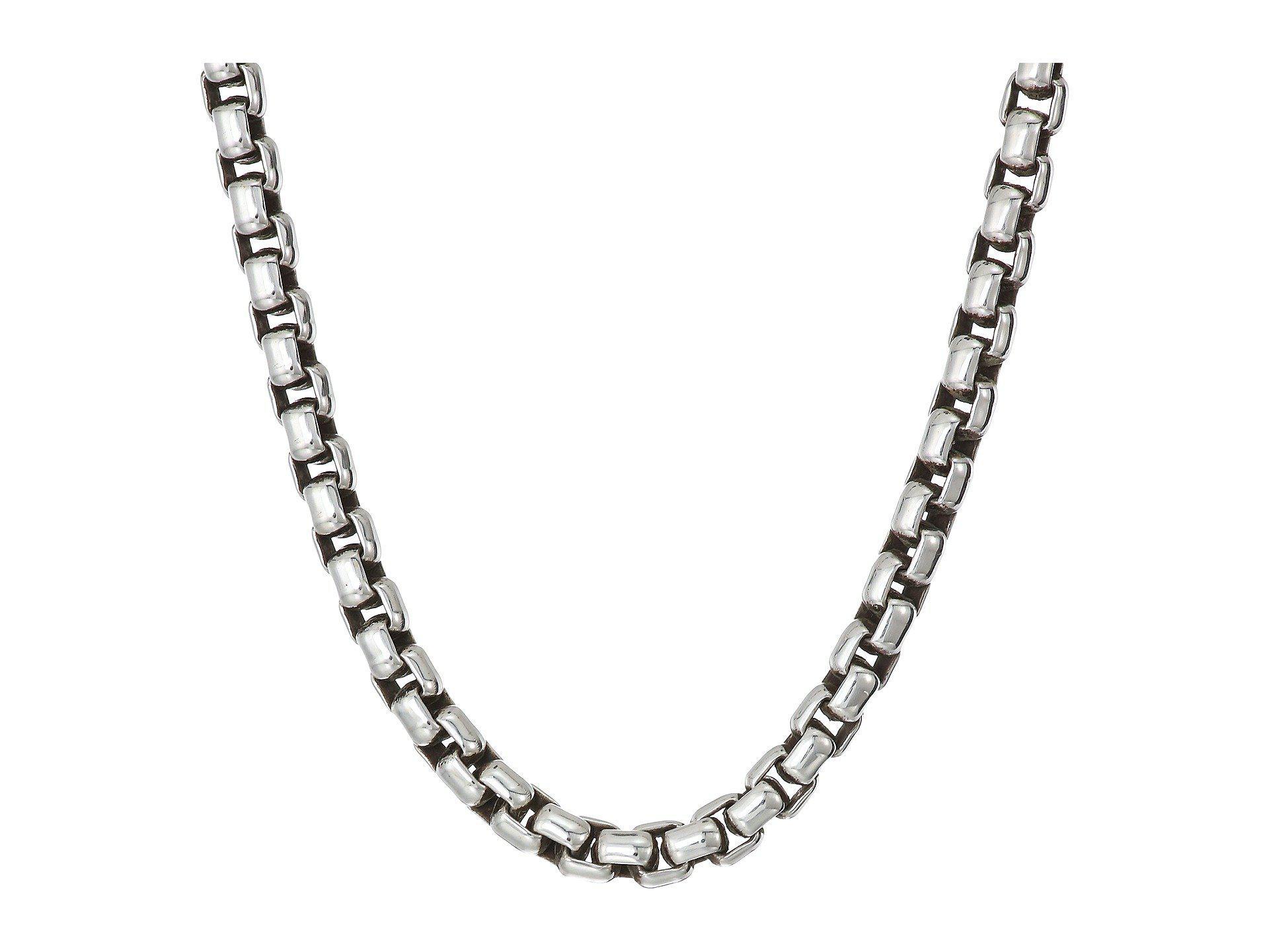 John Hardy 3 7mm Box Chain Necklace Size 22 In Metallic