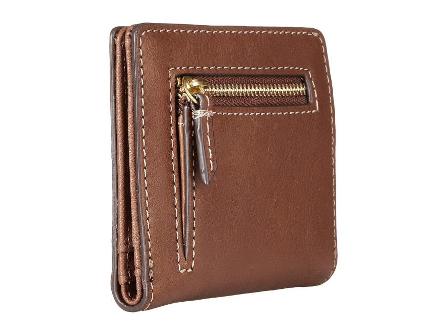 Fossil Leather Emma Mini Wallet Rfid in Brown - Lyst