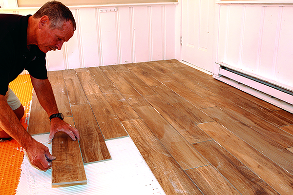 working with large format floor tile