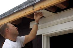 installing can lights in an eaves