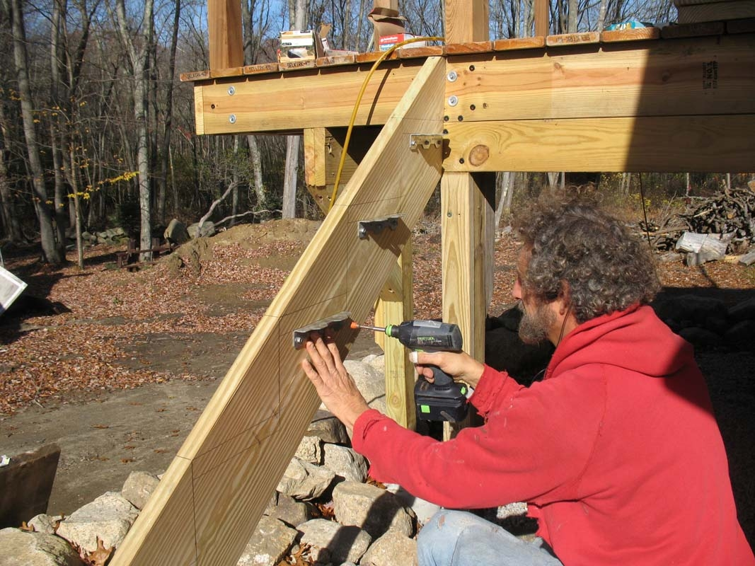 Building Bracketed Deck Stairs Professional Deck Builder | Pressure Treated Stair Treads | Wide | 3 Ft | Picture Frame | Glue Block | Deck