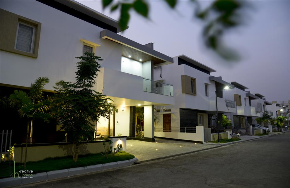 Modern House With Classical Touch Villa At Kondapur