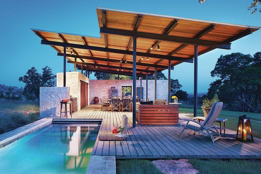 Outdoor Pool Pavilion In Texas Custom Home Magazine