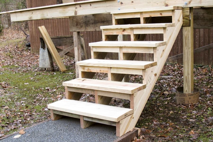 Building And Installing Deck Stairs Professional Deck Builder | Attaching Wood To Concrete Steps | Composite Decking | Handrail | Staircase | Screws | Deck Stairs