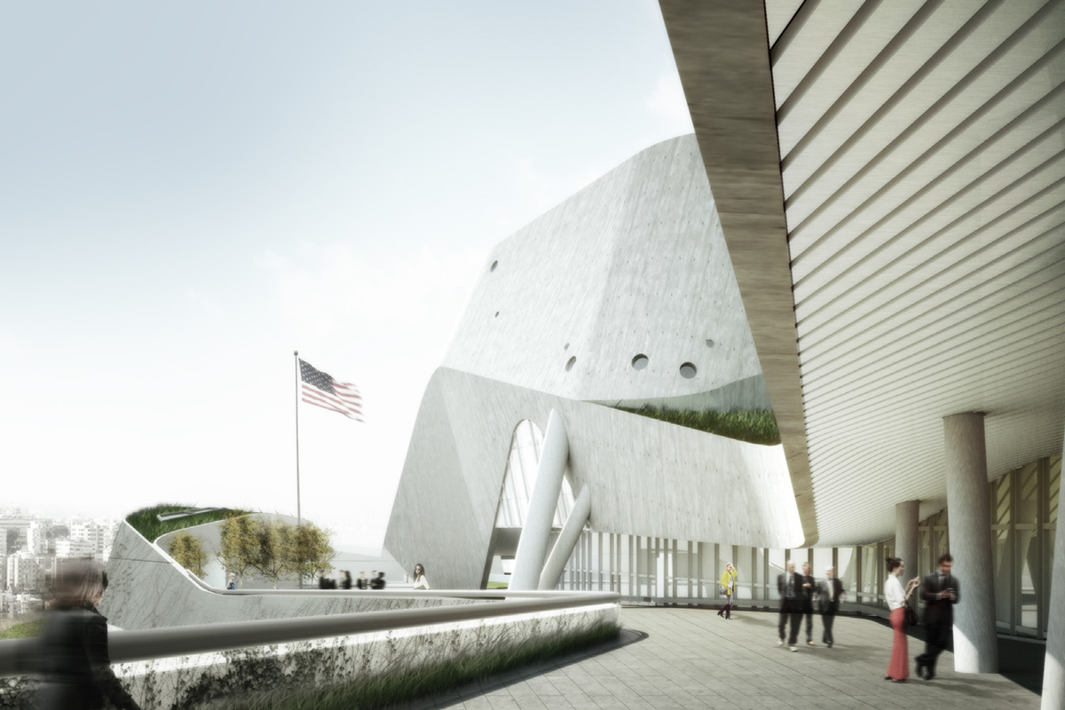 New Morphosis Designed US Embassy In Beirut Breaks