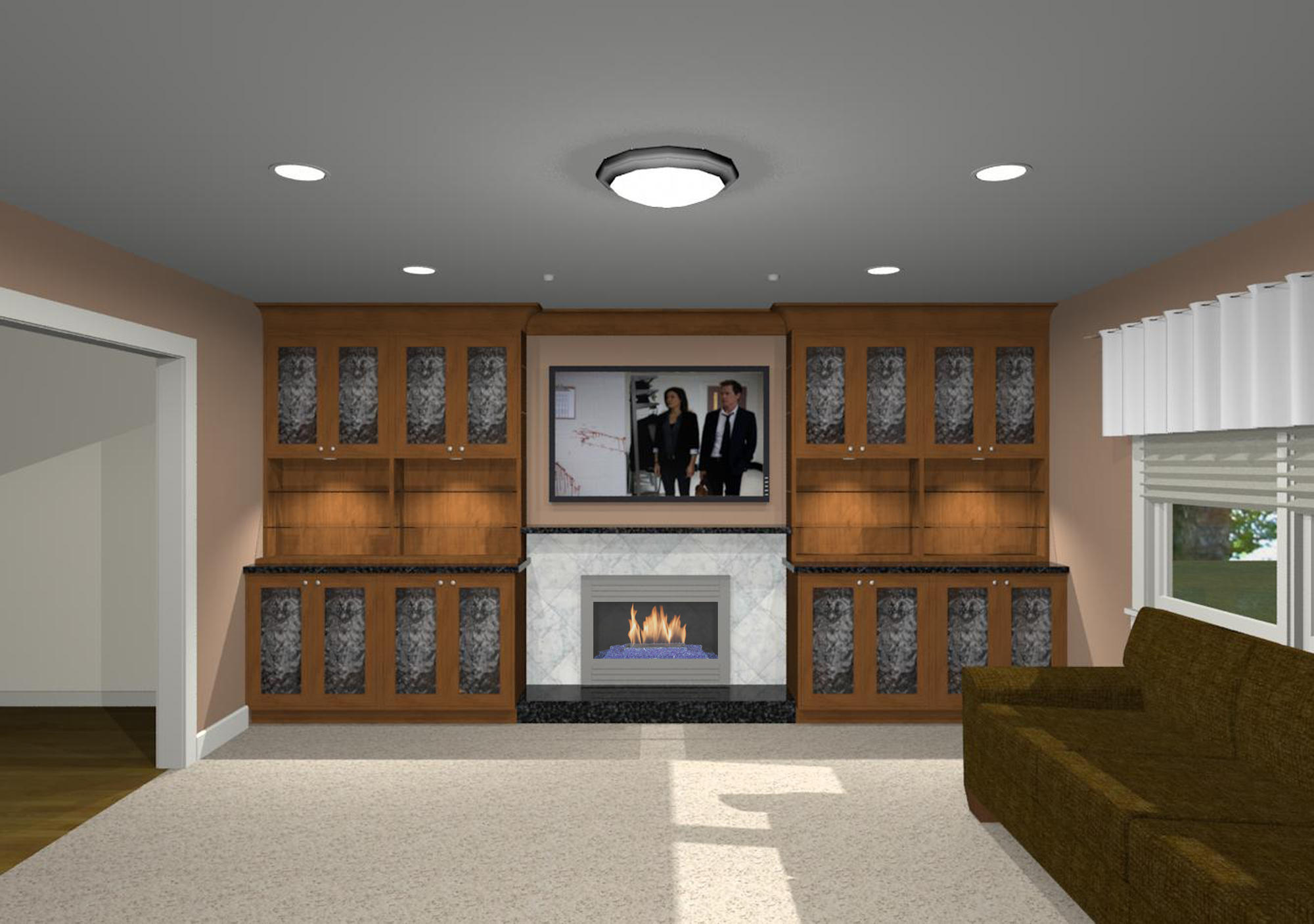 Flat Screen Tv Fireplace