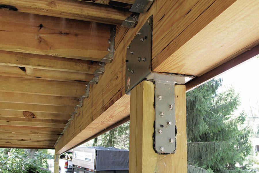 Stronger Post To Beam Connections Professional Deck