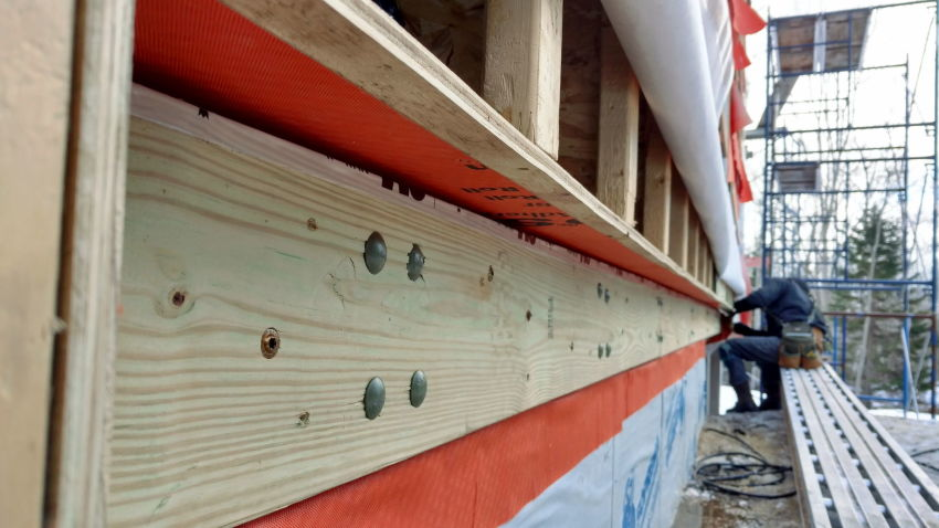 Attaching A Deck To A Superinsulated Fat Wall Jlc Online