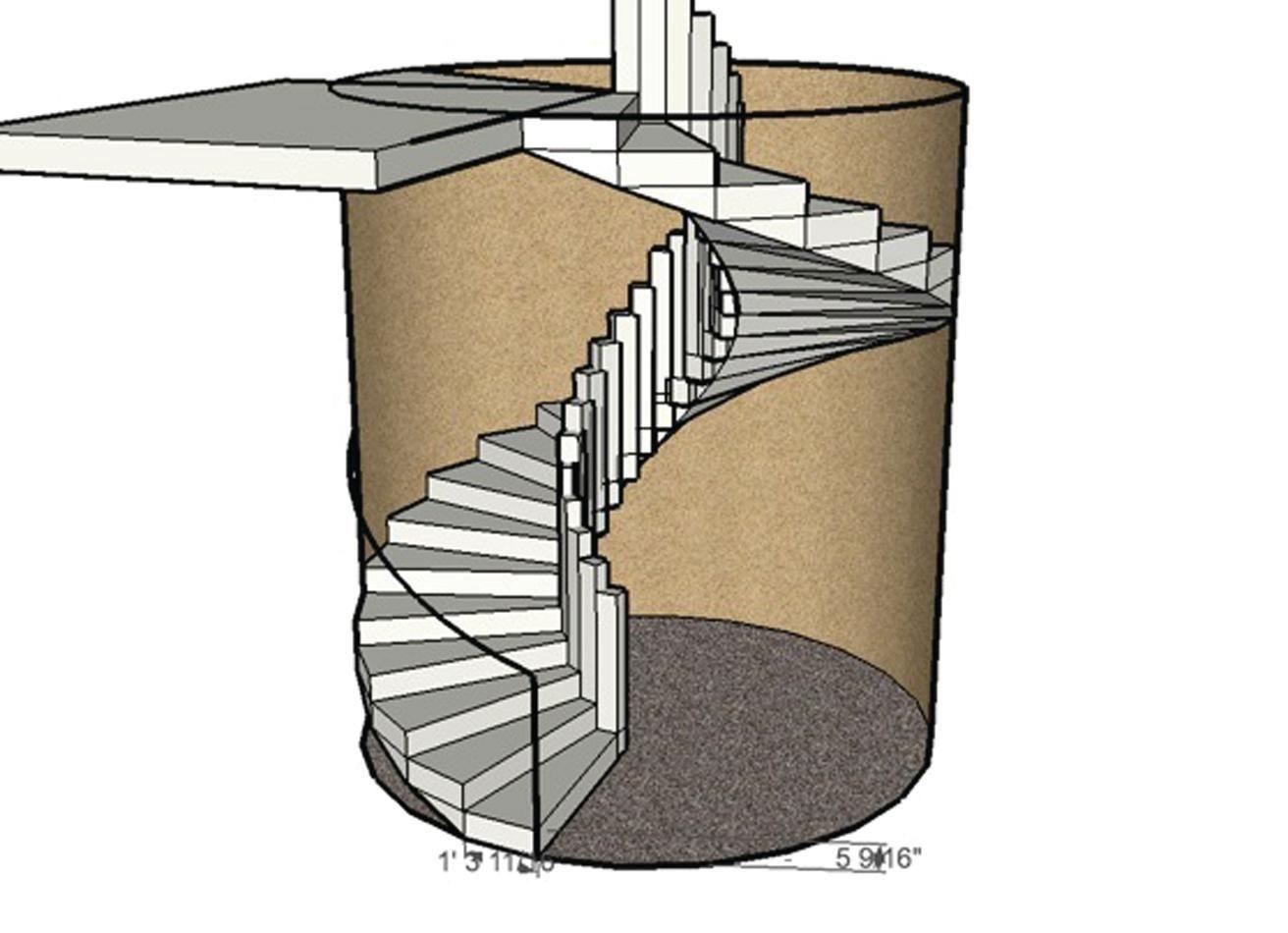 Forming A Circular Concrete Staircase Concrete Construction Magazine | Semi Spiral Staircase Design | Curved Staircase | Residential Library | Interior | Futuristic | Iron