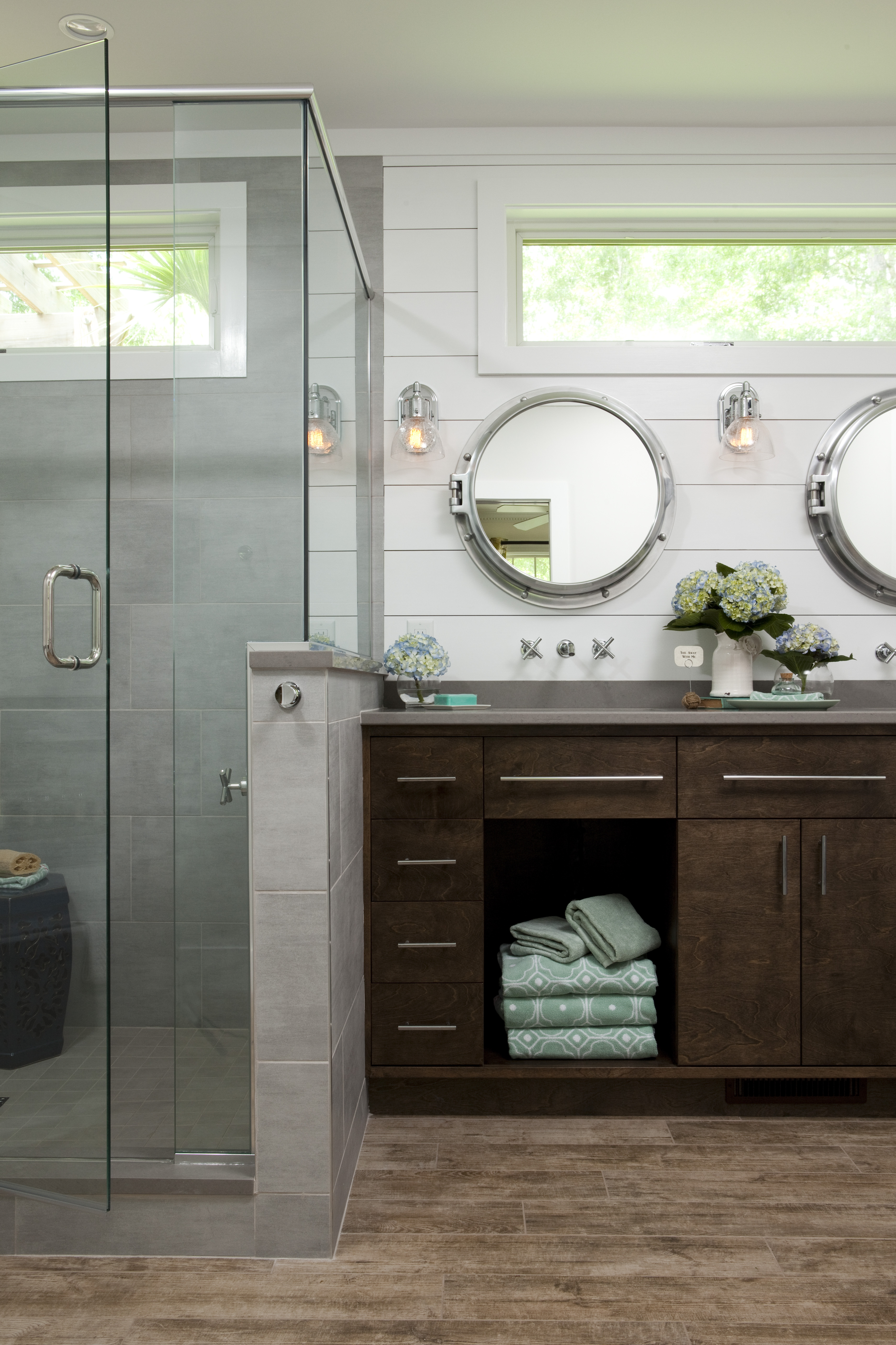 Nautical Master Bathroom Maximizes Its Tub Space Remodeling Balding Brothers Wilmington N