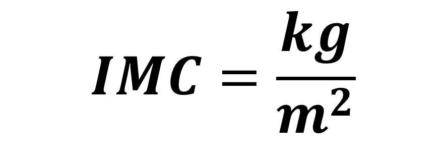 Resultado de imagen de imc formula