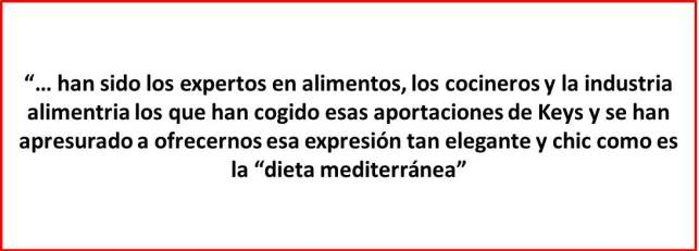 Realidad dieta mediterránea