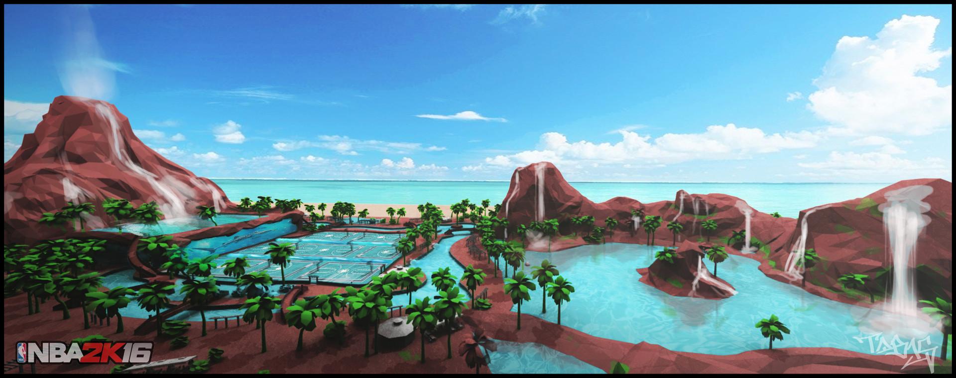 Artstation Sunset Beach 2 0 Nba 2k16 Tyler Bronis